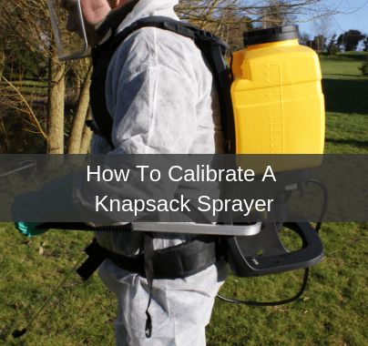Calibrating A Knapsack Sprayer