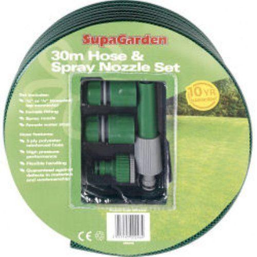 30m SupaGarden Hose & Spray Nozzle Set