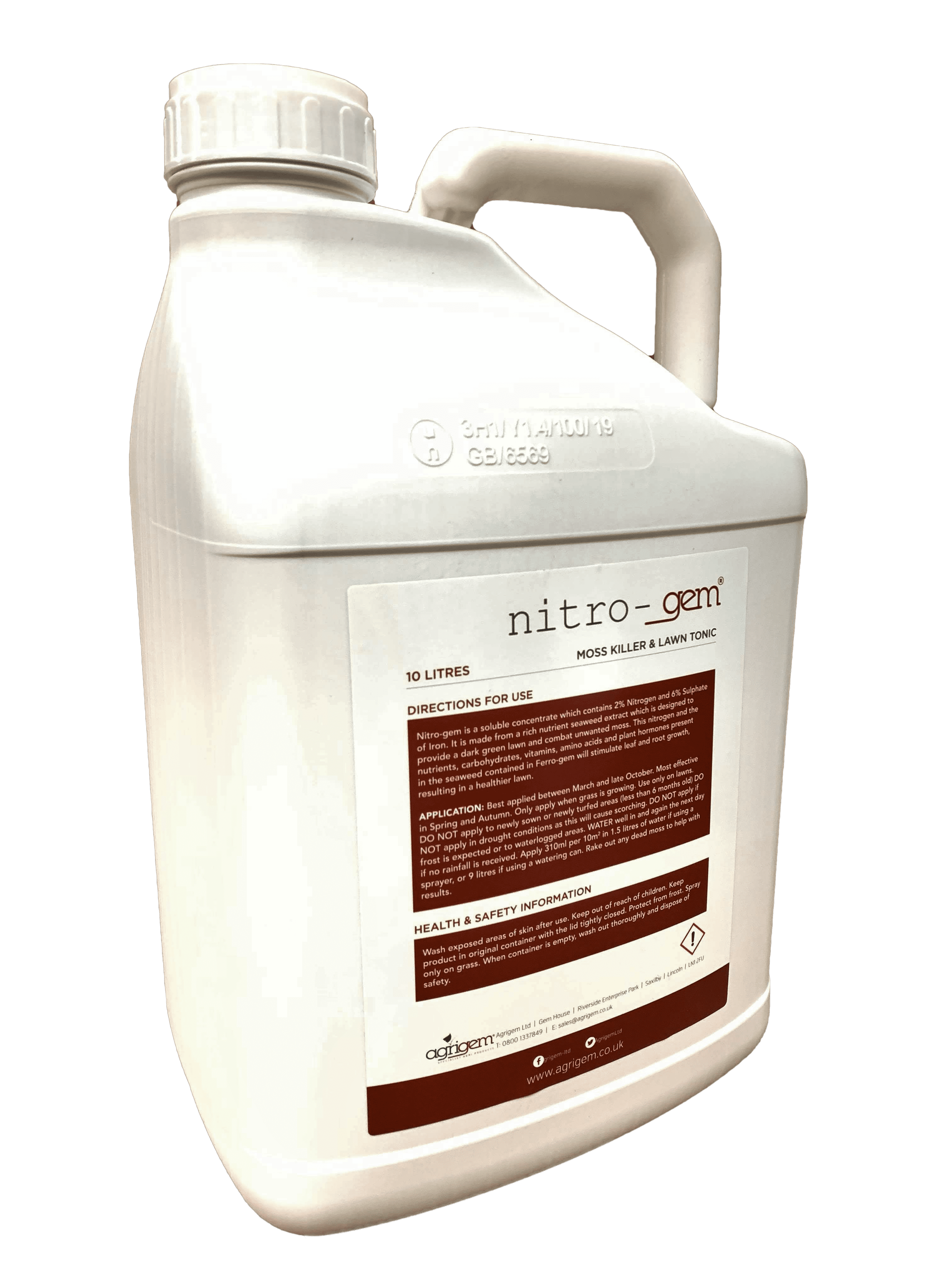 Nitro-gem Lawn Tonic 10L Moss Killer & Grass Fertiliser