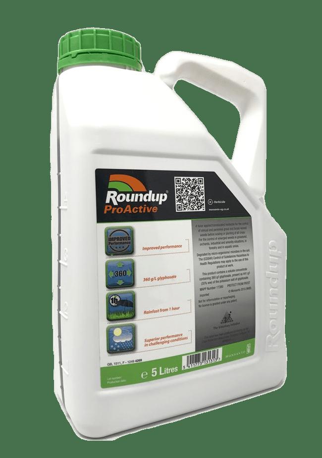 Roundup Pro Active 5L 360 Glyphosate Total Weedkiller