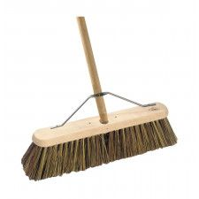 Platform Broom Complete With Handle & Metal Stay Hill Brush
