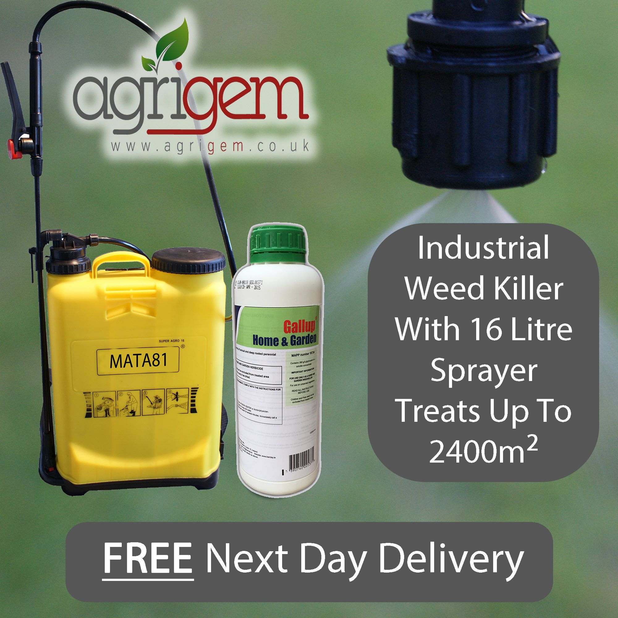 knapsack sprayer 20l with gallup extra strong spray weed. Black Bedroom Furniture Sets. Home Design Ideas